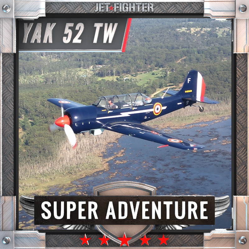 Jet Fighter: Adventure and Adrenaline flights in Australia - Yak 52 TW