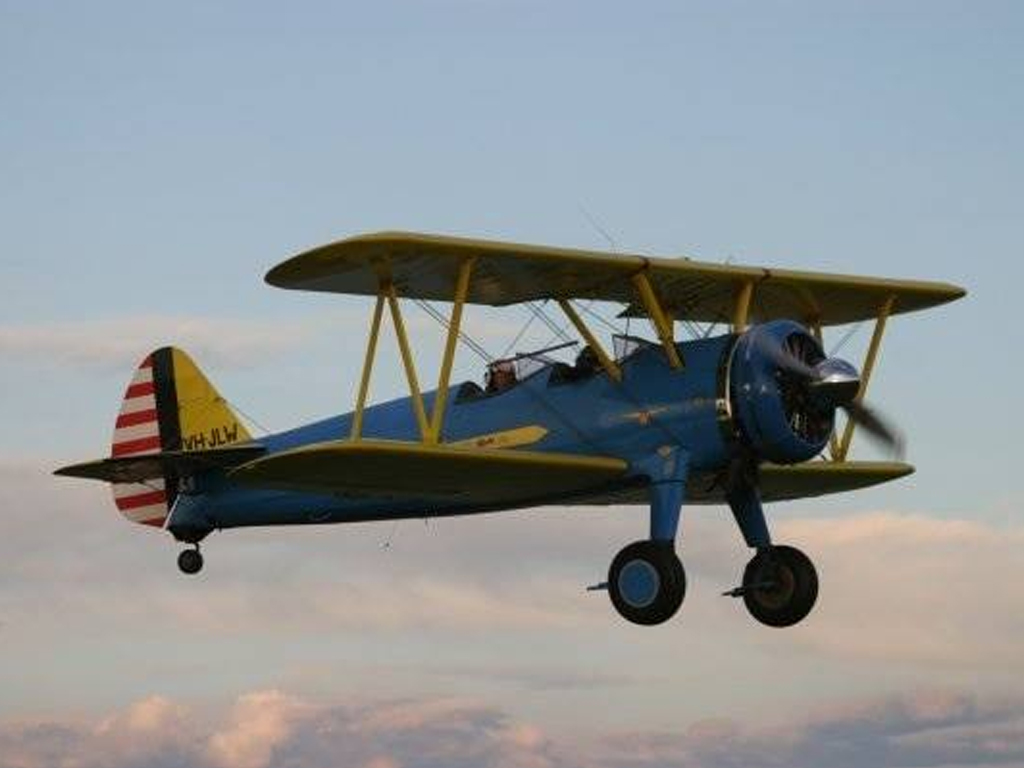 Jet Fighter: Adventure and Adrenaline flights in Australia - Boeing Stearman